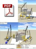 3D Lift Plan view showing both cranes