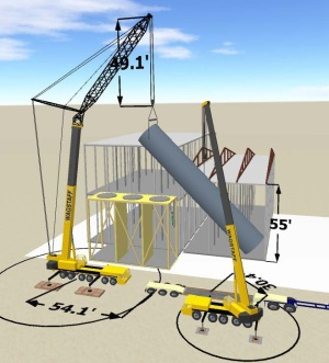 3D Lift Plan view of the container being lifted