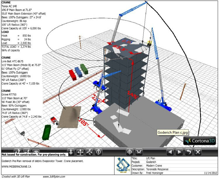 3d lift plan crane lift planning software for Construction site plan software