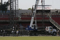 Photo of the stage construction