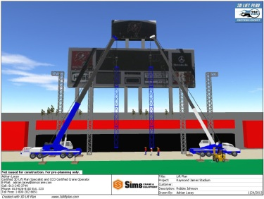 3D Lift Plan view of the stage construction