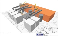 3D Lift Plan aerial view of jobsite