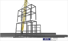 3D Lift Plan of supporting structure being placed