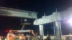 The first beam set in place