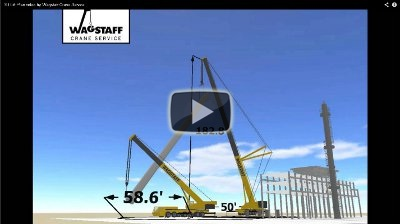 Refinery vessel lift video by Ronnie Wagstaff