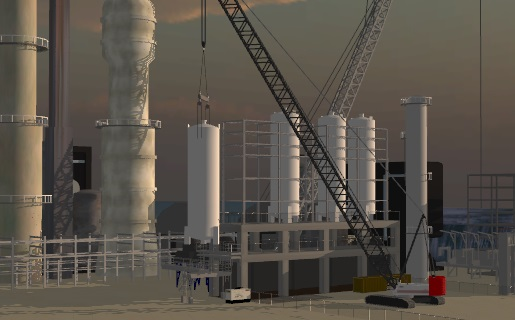 3D Lift Plan refinery lift