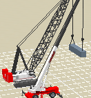 Dual-crane setup for box positioned sideways